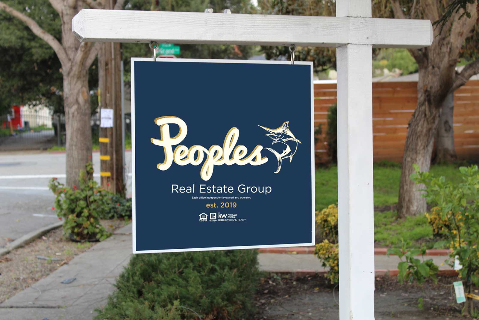 Peoples Real Estate property sign